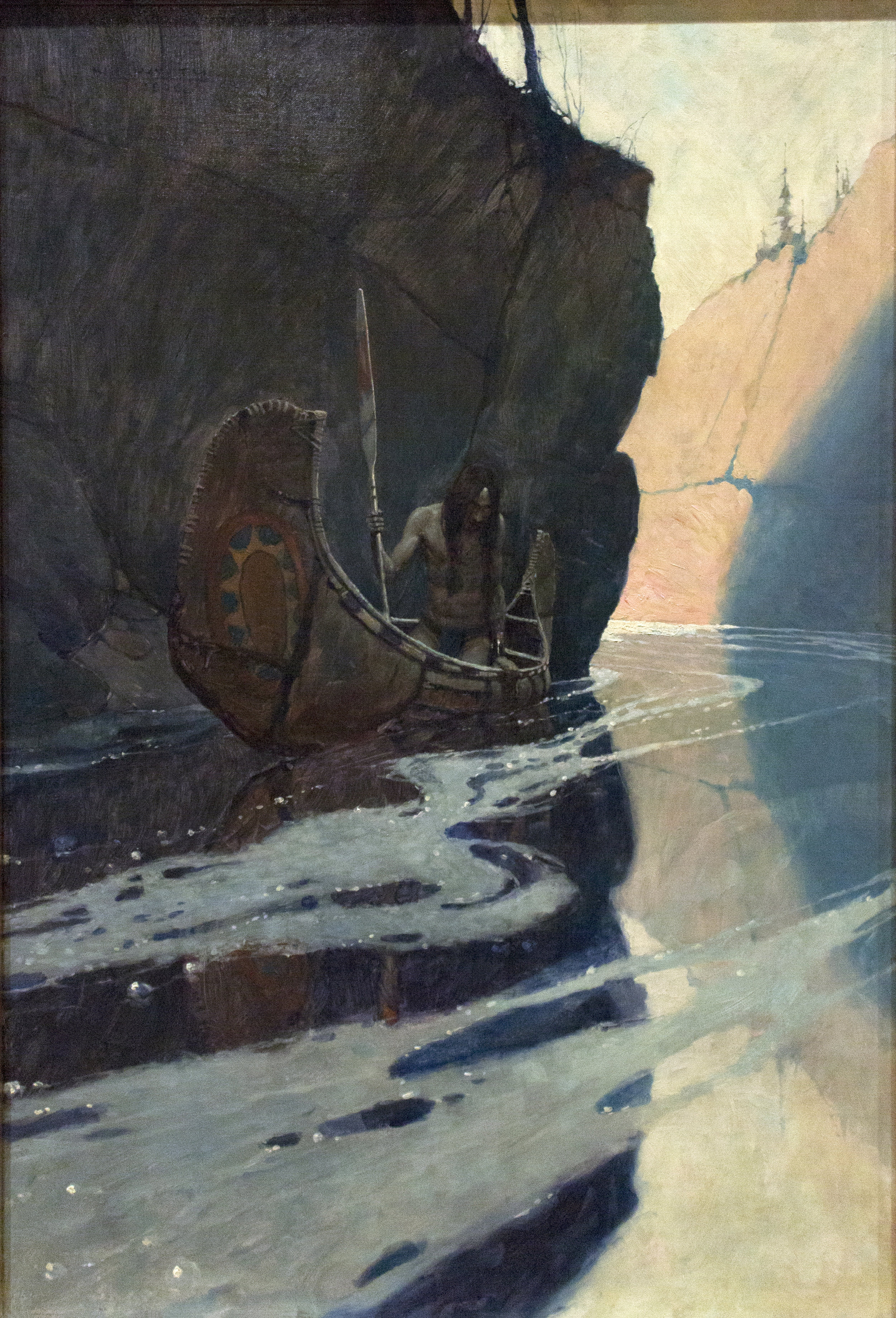 In the Crystal Depths, 1906, Oil on canvas. N.C. Wyeth. The Brandywine River Museum of Art. Image courtesy of author.