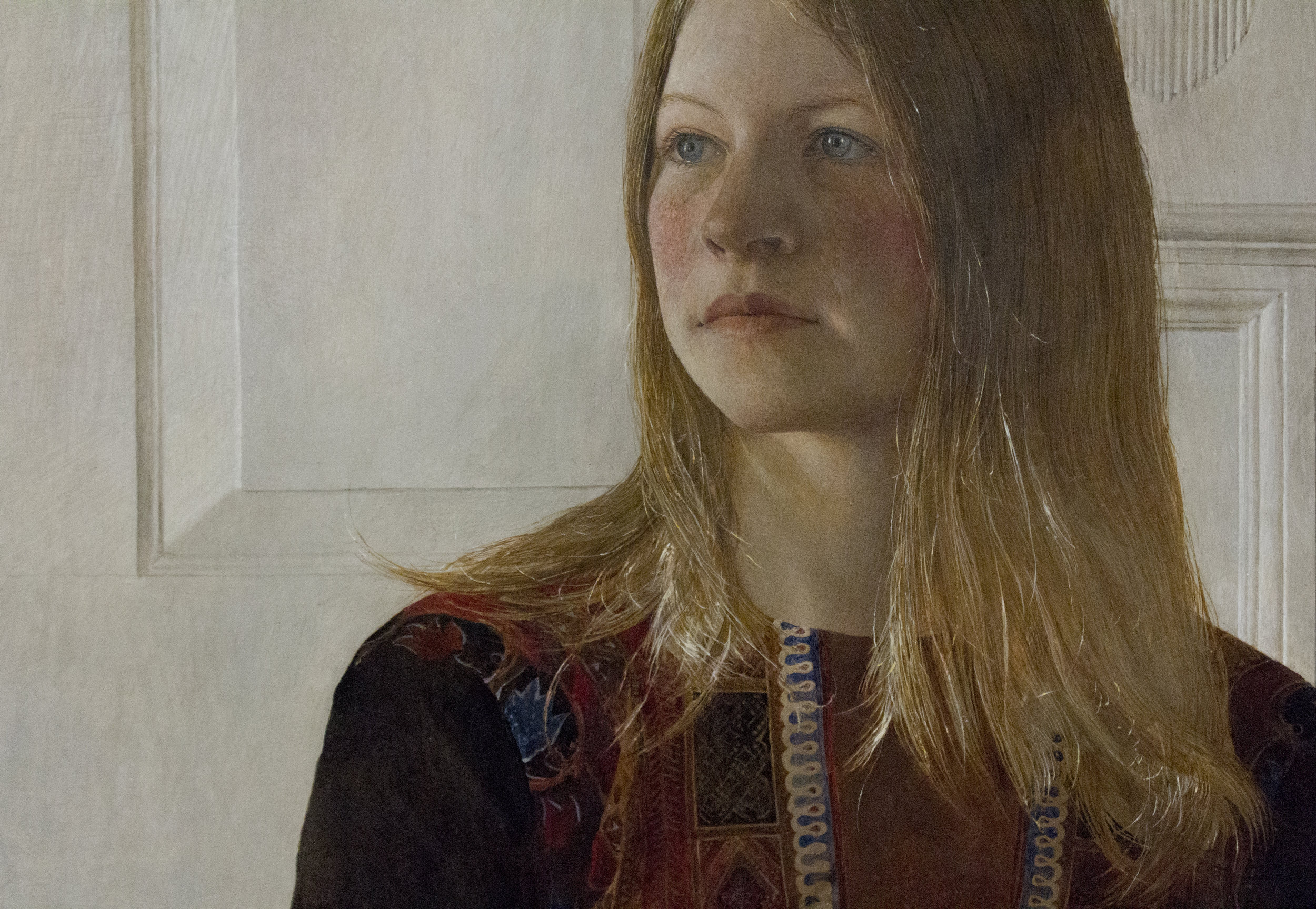 Siri (detail), 1970, Tempera on Panel. Andrew Wyeth. The Brandywine Museum of Art. Image courtesy of author.