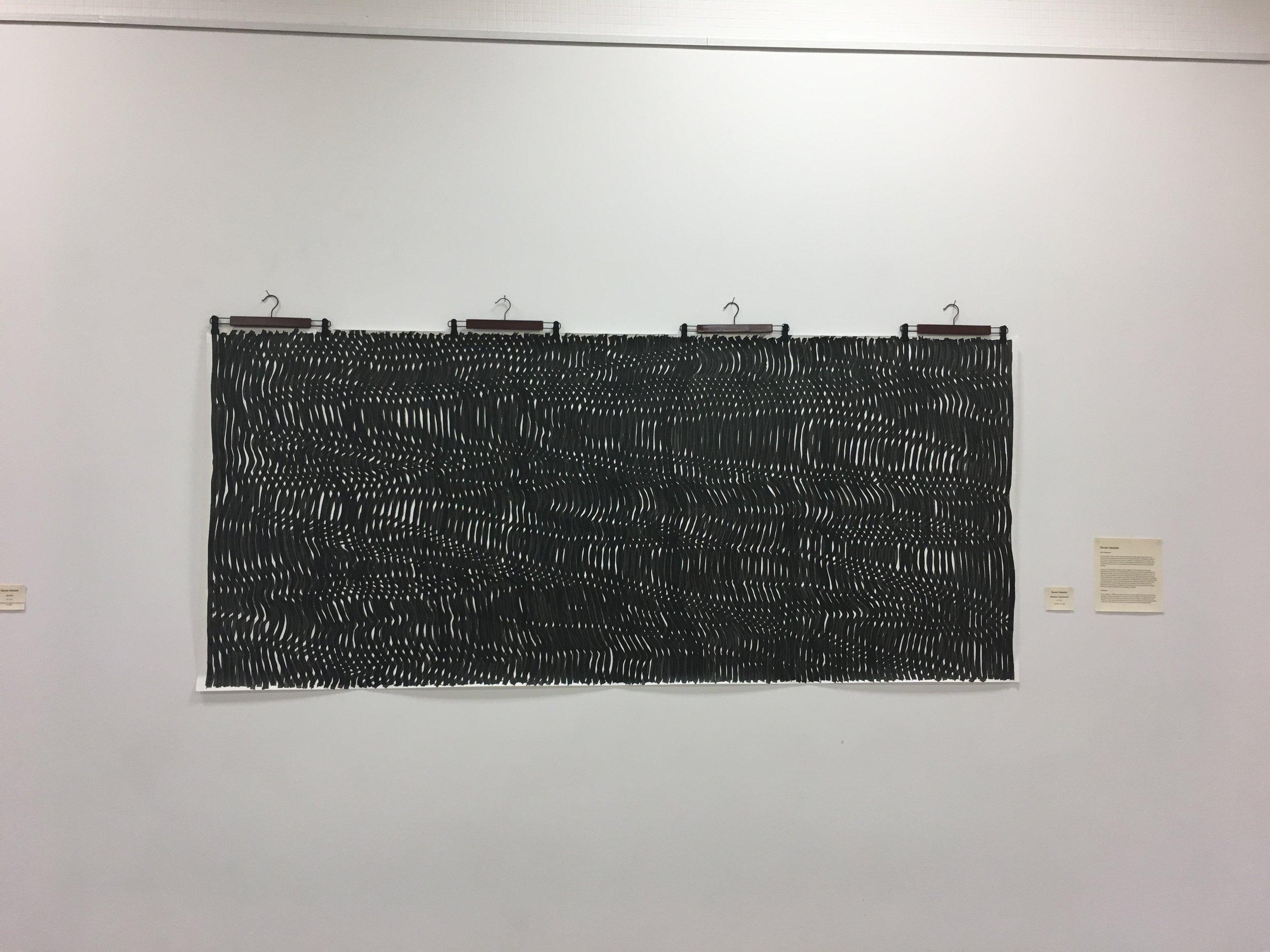 Mistaken Perspective,  Devon Hensler. India ink on paper, 2017. Image courtesy of Lauren Darpel.