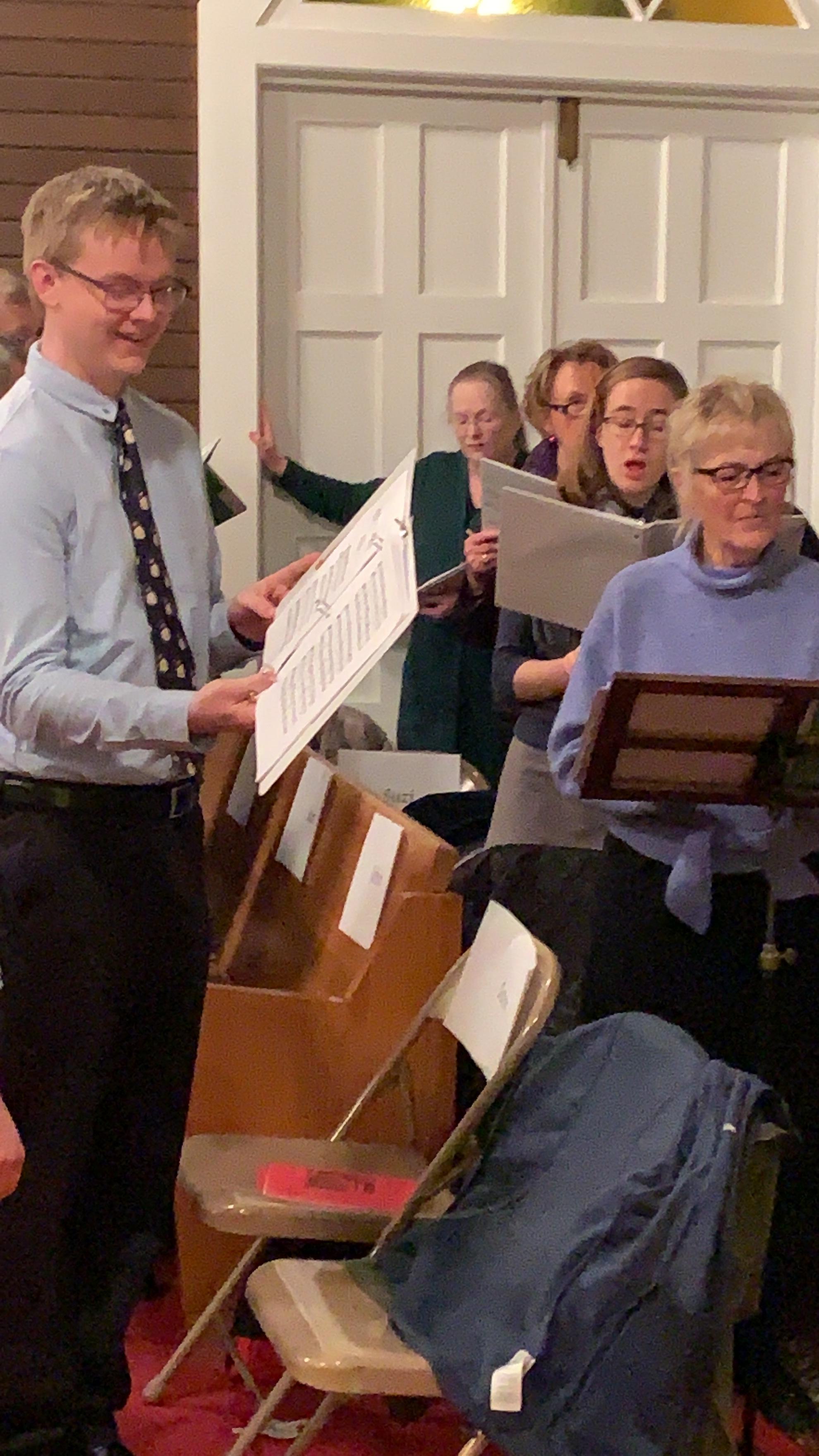 Our Christmas Eve Choir.