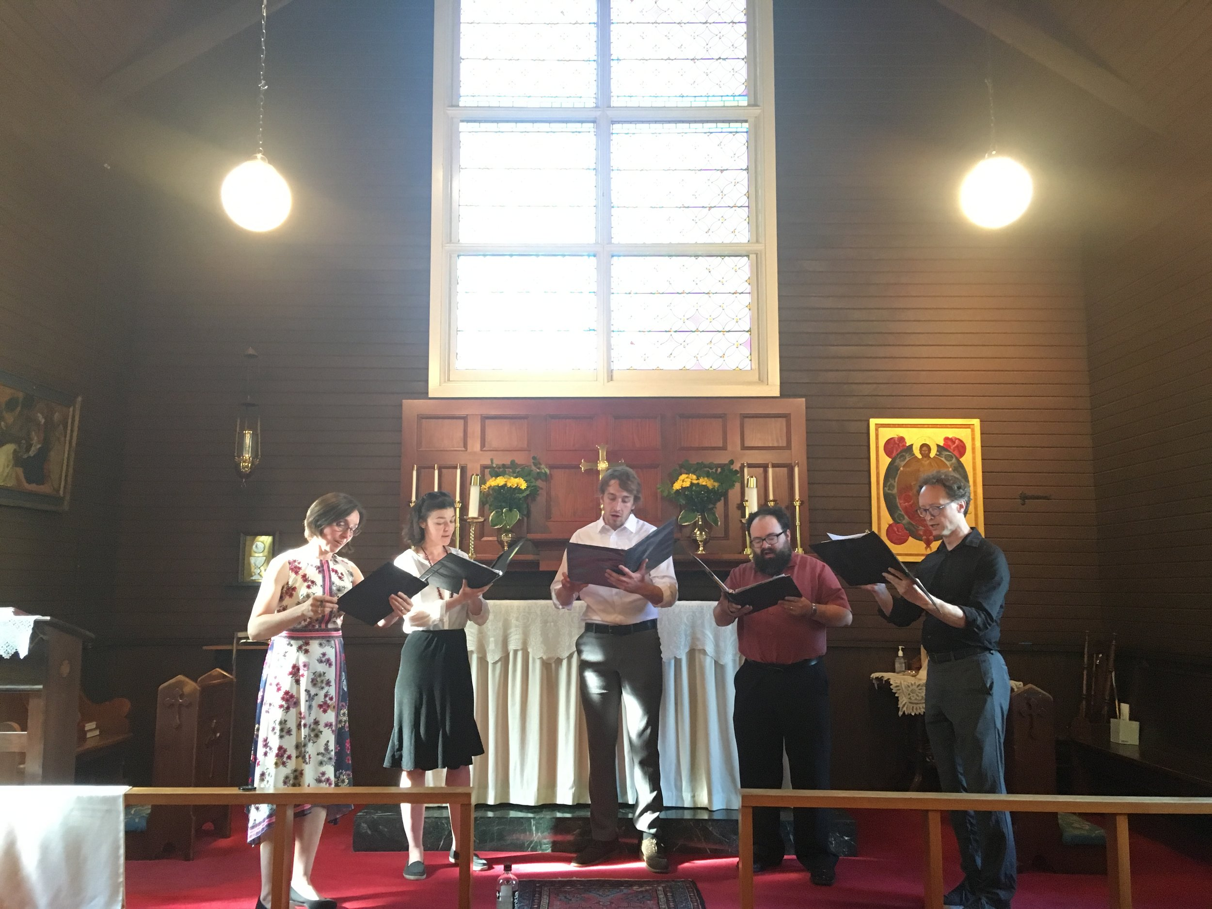 A guest chamber choir performs in our chapel.