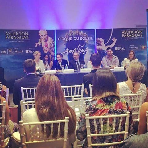 Interpretación consecutiva de la conferencia de prensa del Cirque du Soleil que llega por primera vez a Paraguay con su espectáculo Amaluna #cirquedusoleil #amaluna Ph: @lanacionpy