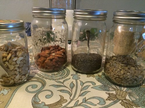 Store Nuts and Seeds in Glass Jars