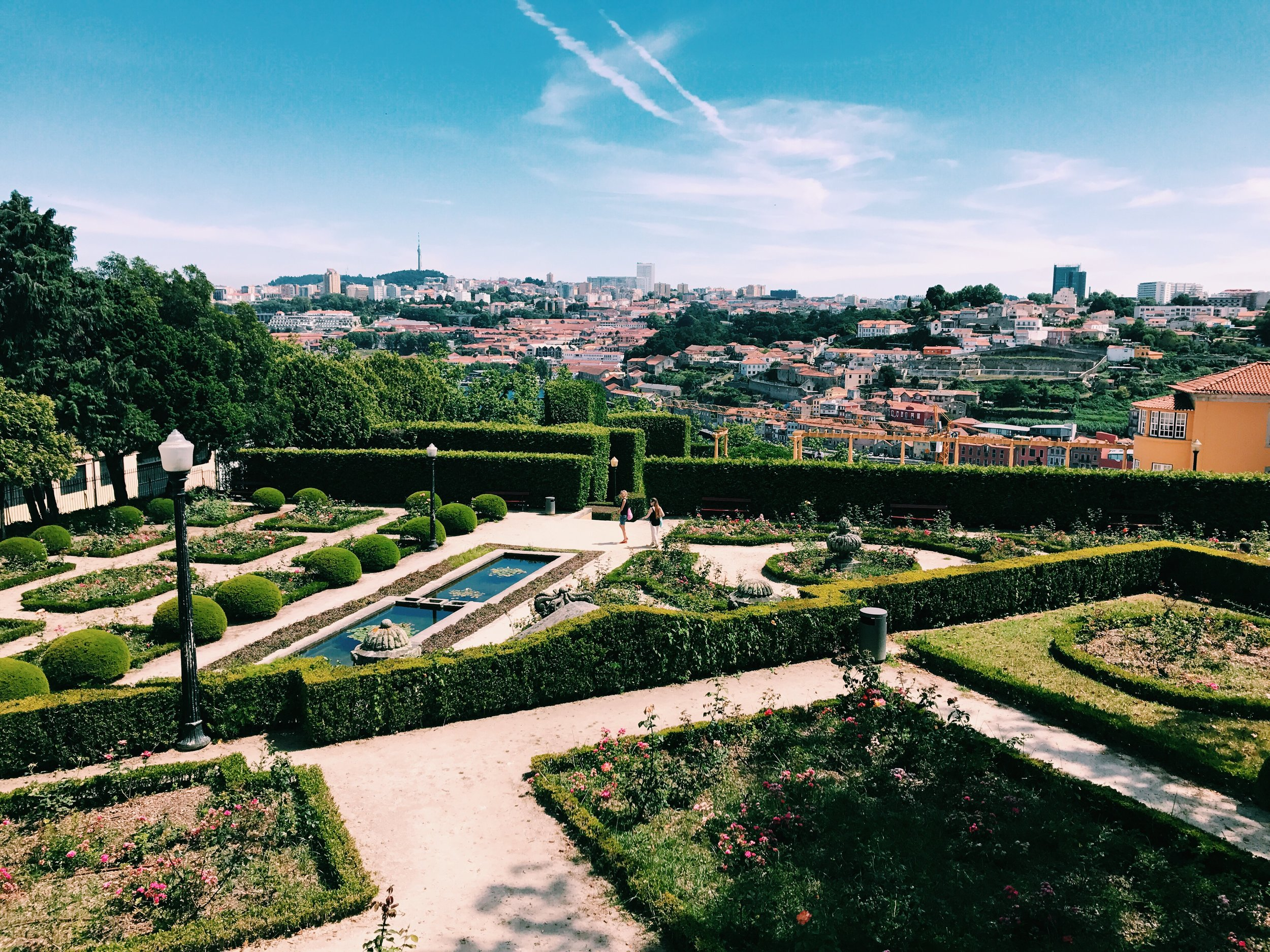 Rose Garden in the Garden of the Crystal Palace in Porto