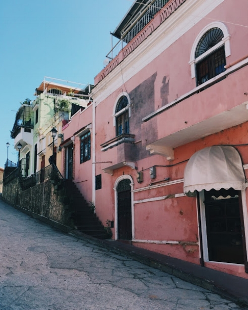 A colorful street in Santo Domingo