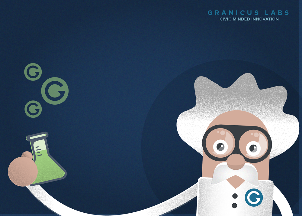 This mad scientist is hard at work testing our products in the banner for the email survey template!