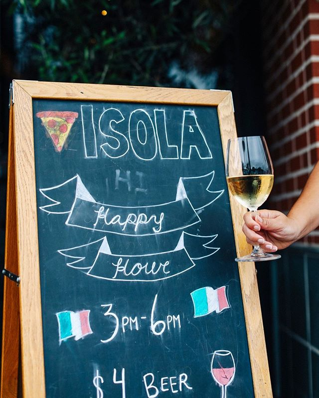 Happy Hour, every day. It's our thing. - - - #happyhour #cleaneating #wine #pizza #yummy #isolapizza #lajolla #littleitaly #littleitalysd #sandiegoeats #youstayhungrysd #italian #coastcreative