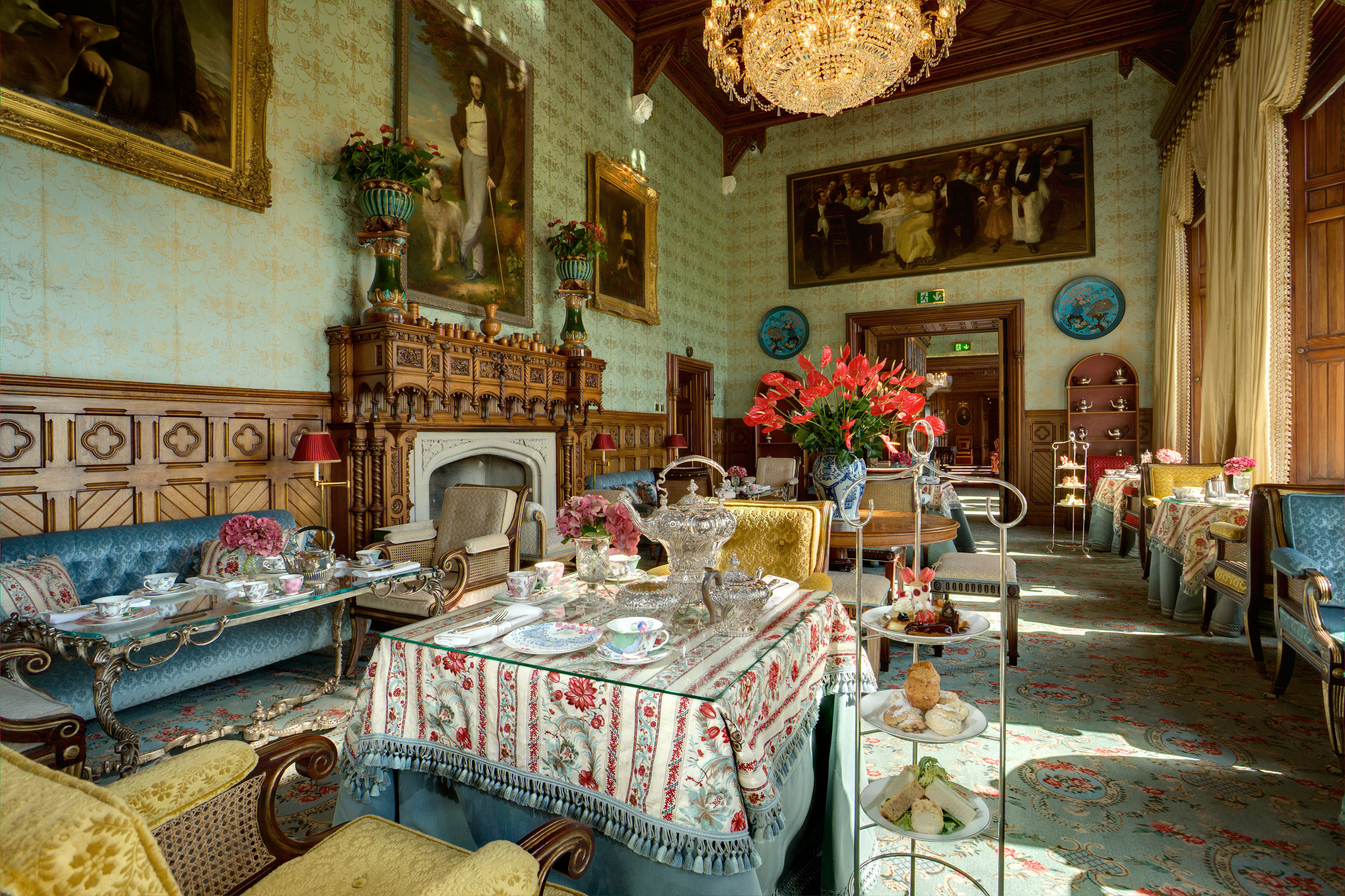 Afternoon Tea in the Connaught Room - Image Courtesy Ashford Castle