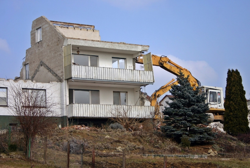 """In some cases, """"remodel"""" may mean """"demolish""""."""