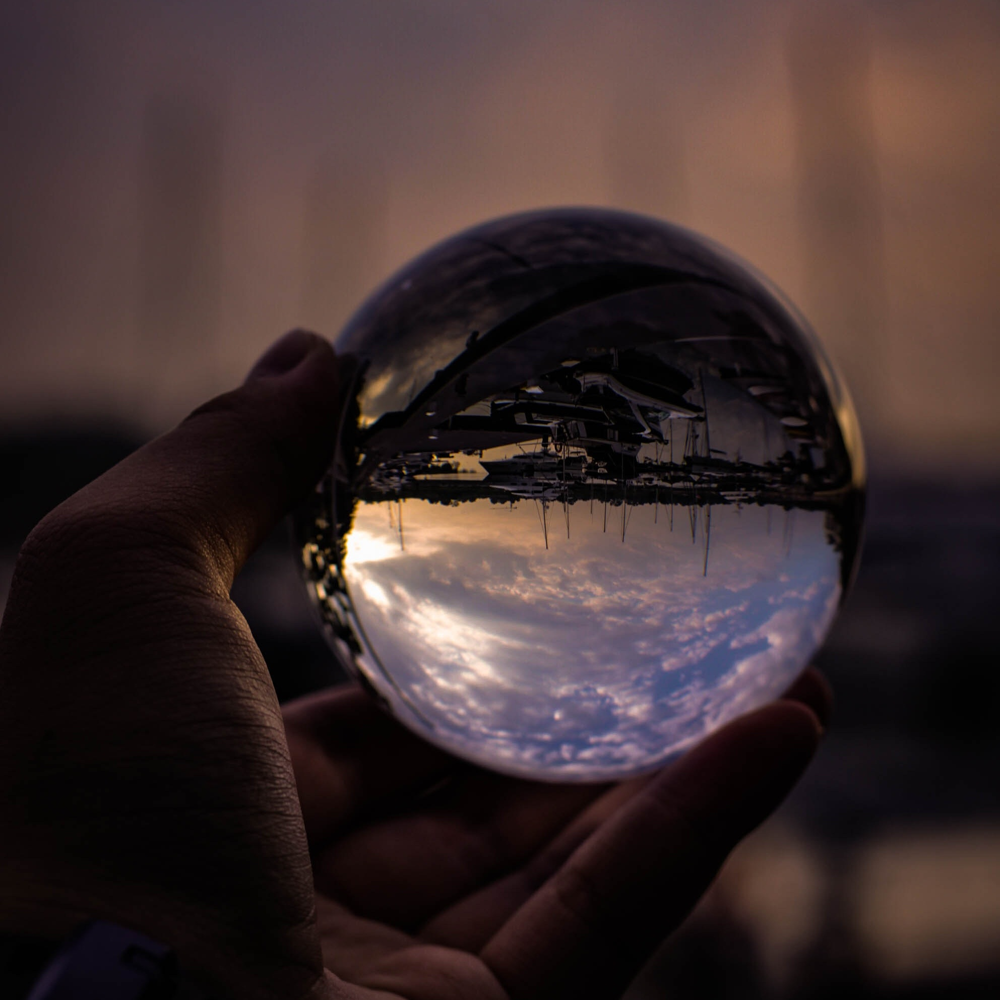 It seems like every time I look into my crystal ball, all I see is an upside down world. #deepthoughts