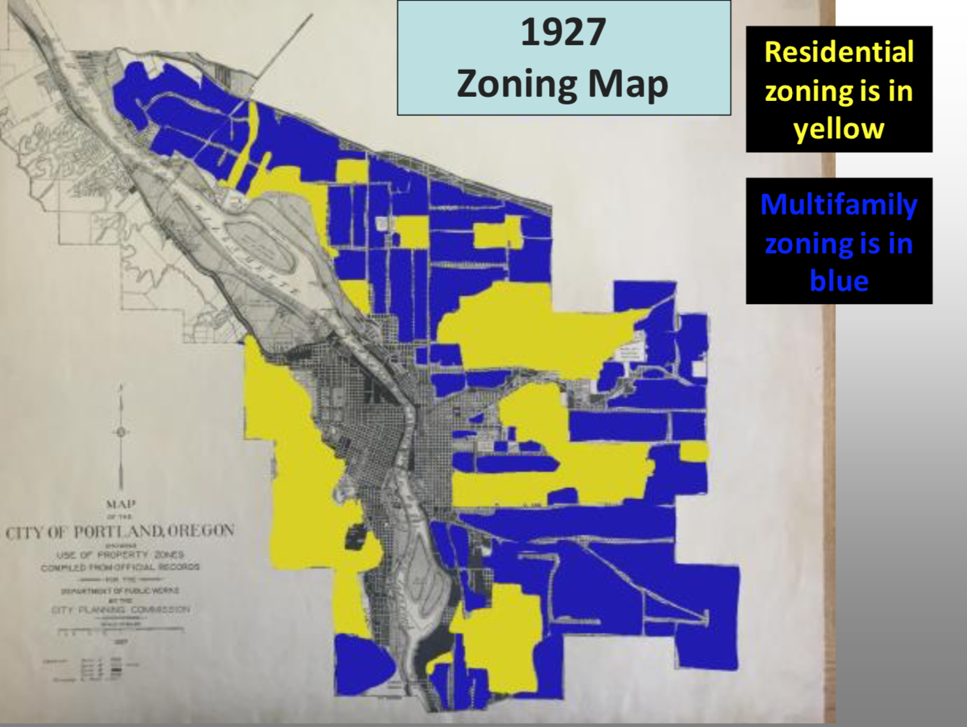 1927 Zoning Map