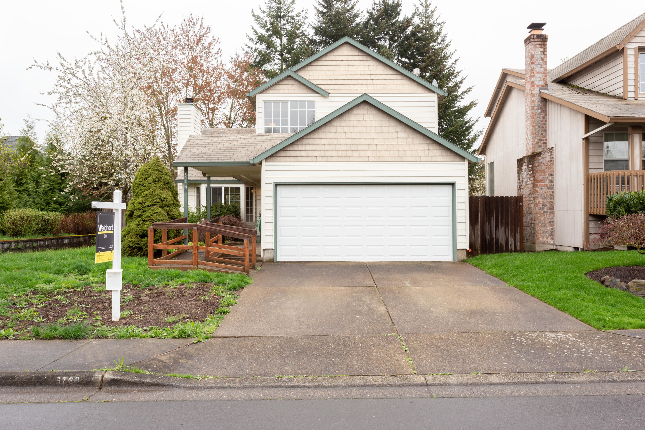 Enjoy this west facing home situated at the end of a quiet street.