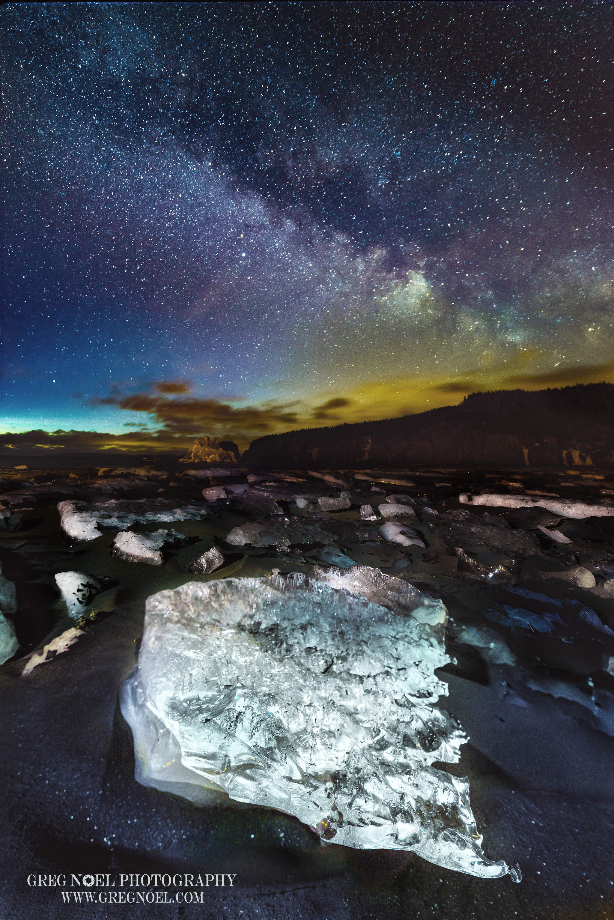 Salmon Cove Sands, Ice and the Milky Way