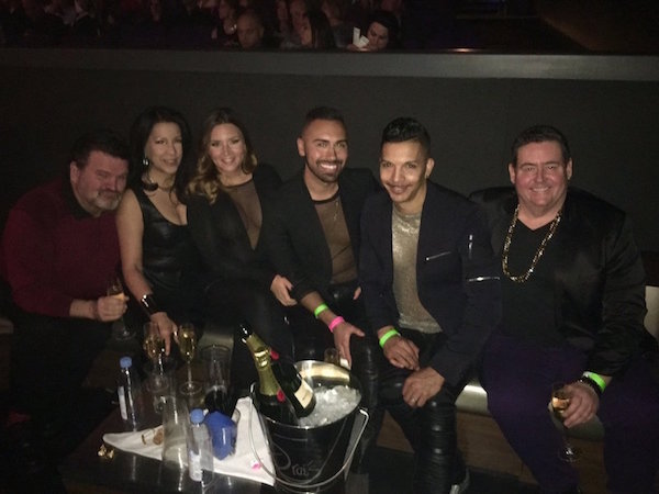 The JLO crew Kevin M. Thomas, Vivian, Gianna, Jeremy Ross Lopez, Steve V. Rodriguez & Frank