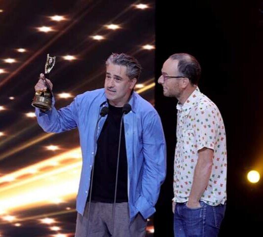 """Director Tomer Heymann wins Best Documentary at the 2019 Ophir Awards for """"Jonathan Agassi Saved My Life"""""""