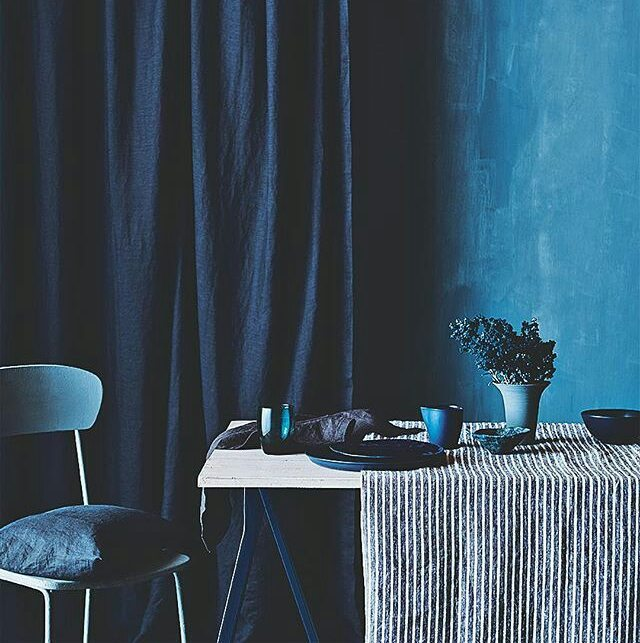 Sarum blue is really the way to go--year-round. Buy the paint before you even ask and then just tell them it's part of your Lenten devotion. @vogueliving