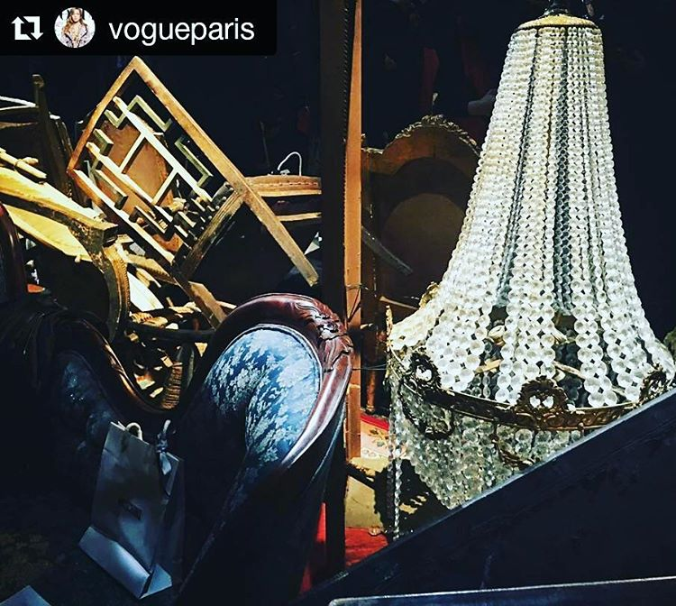 This was Moschino's set design for Fashion Week a while back. If only we had known church attics were on trend . . . @vogueparis