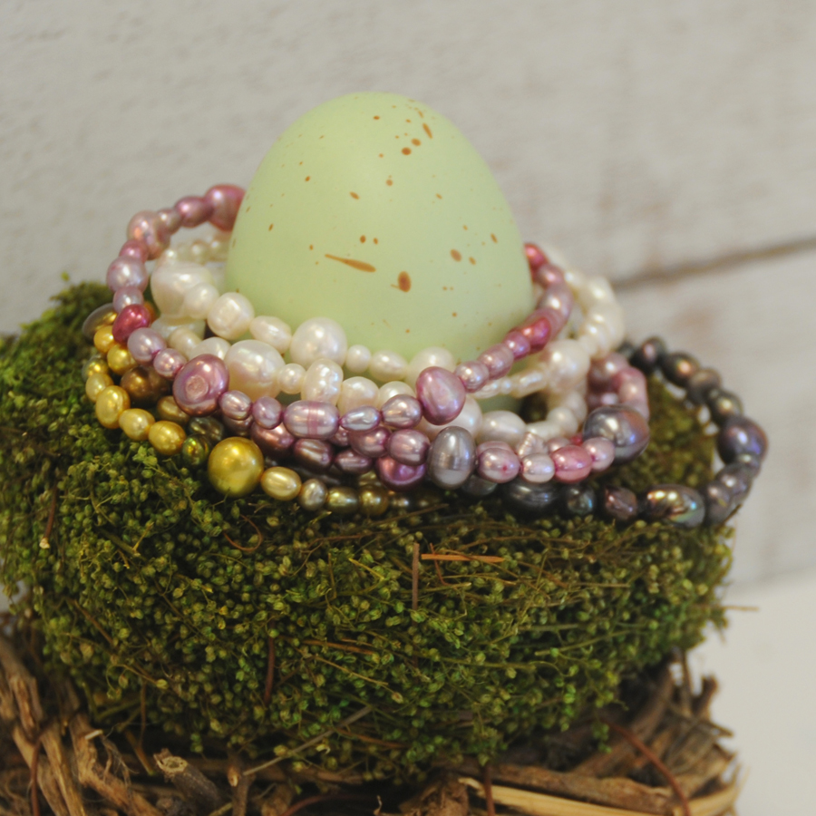 Multi-Colored Stackable Freshwater Pearl Bracelets