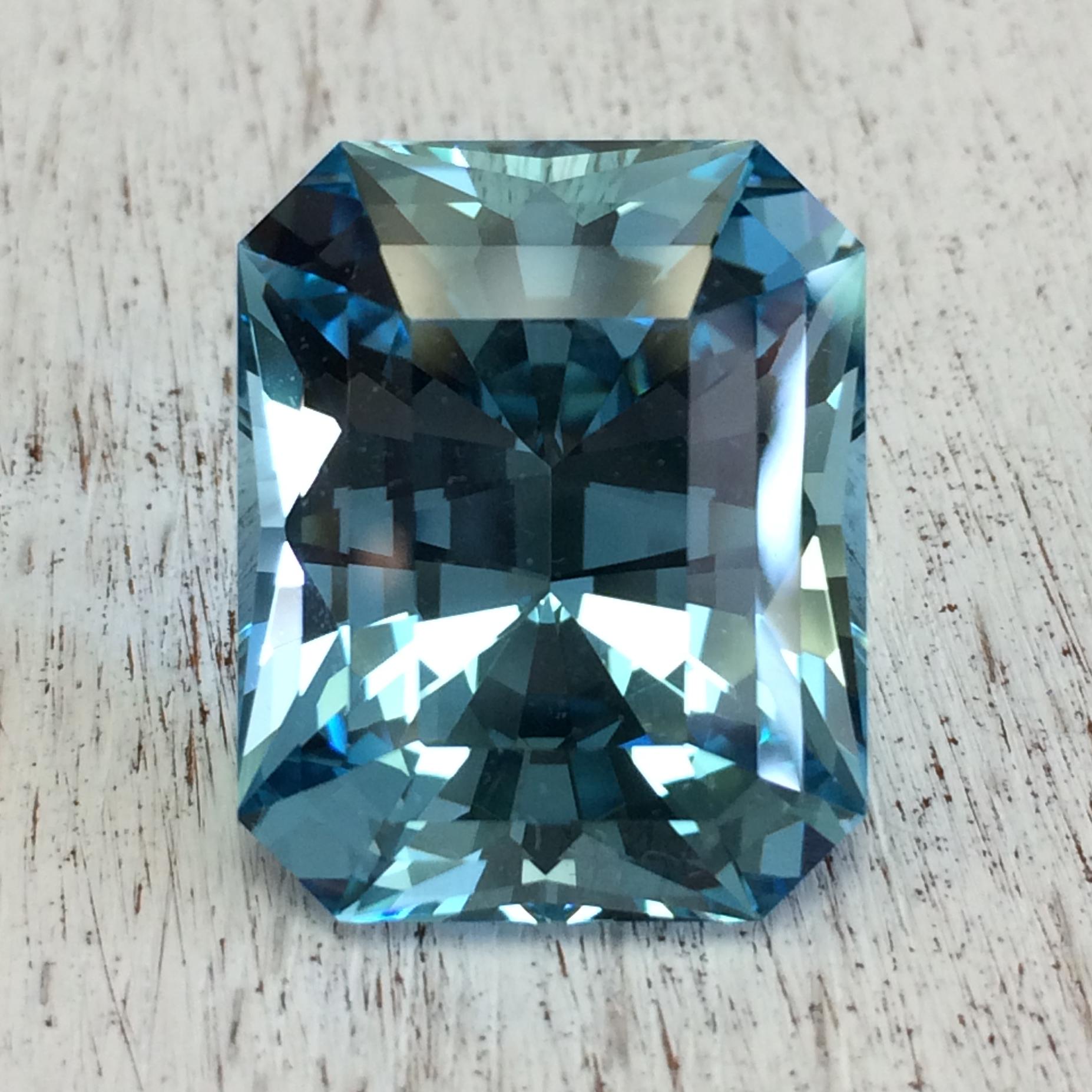 Recut 26.04 carat Aquamarine