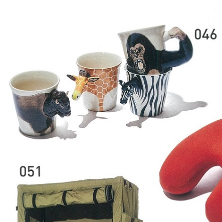 046 - ANIMAL MUGBison・Giraffe・Gorilla・Zebra