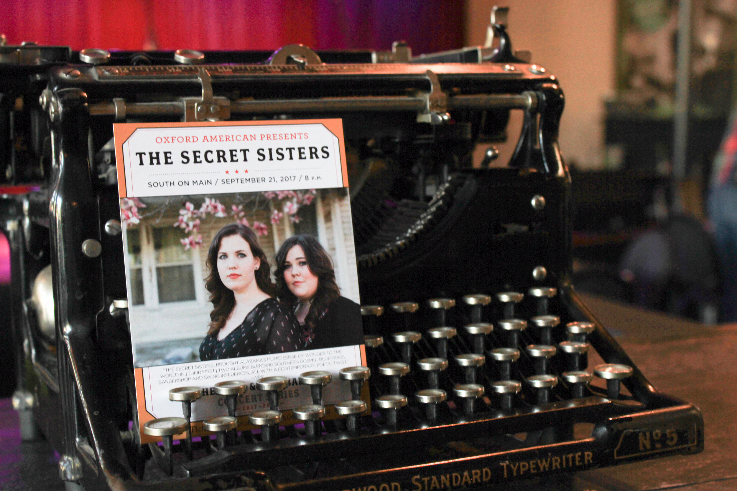 Secret Sisters at South on Main