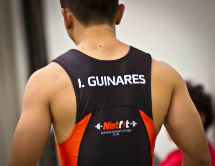 Custom sublimated weightlifting suit