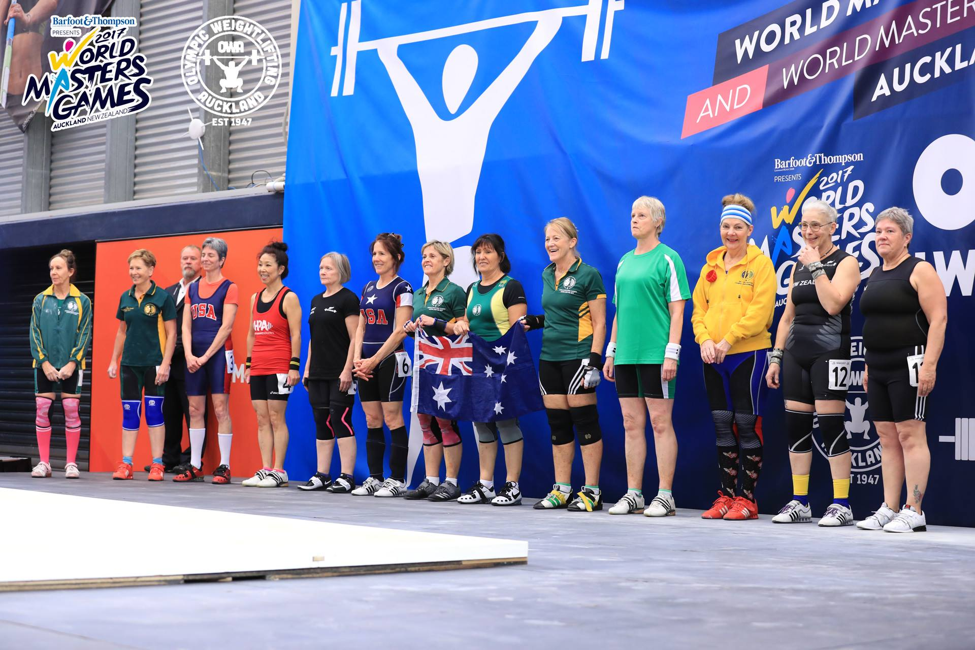 Australian Olympic Weightlifting Team at World Masters Games 2017