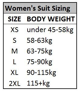 Womens Olympic weightlifting suit sizing