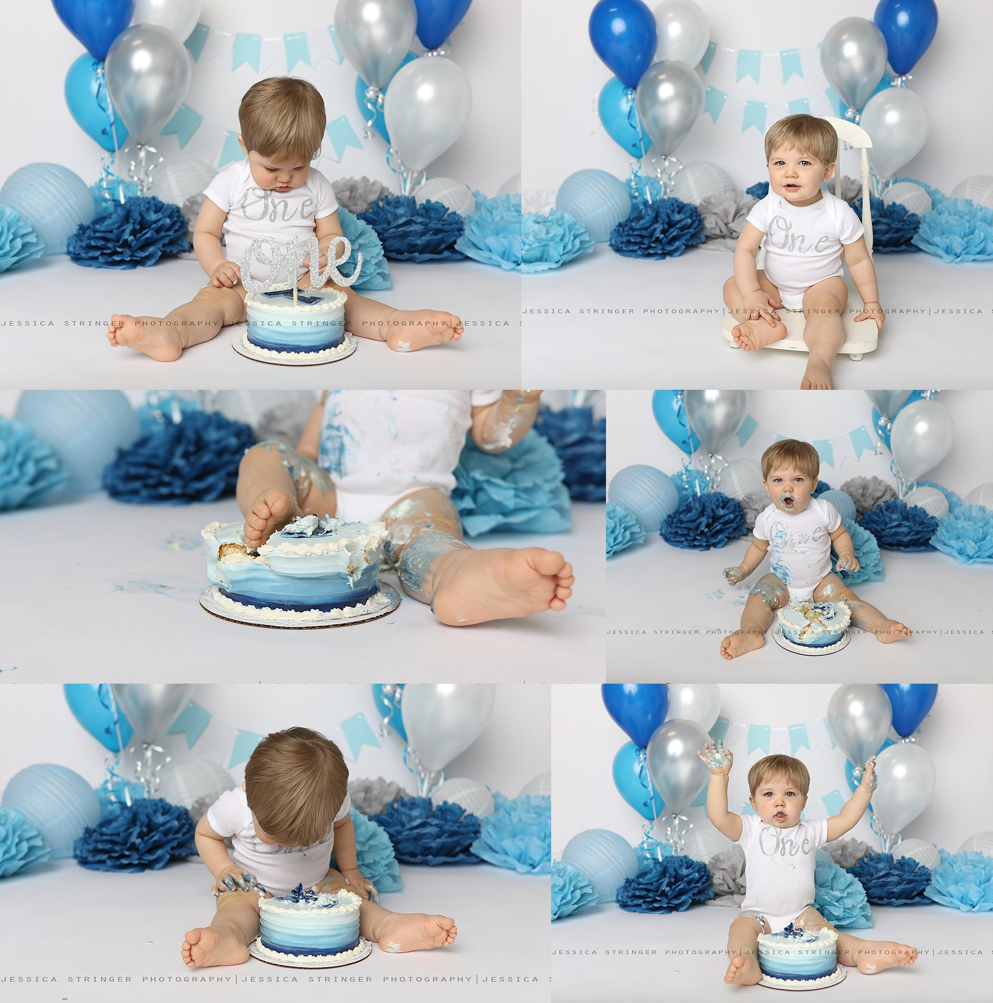 And ofcourse the cake smash! Noah loved his cake! <3