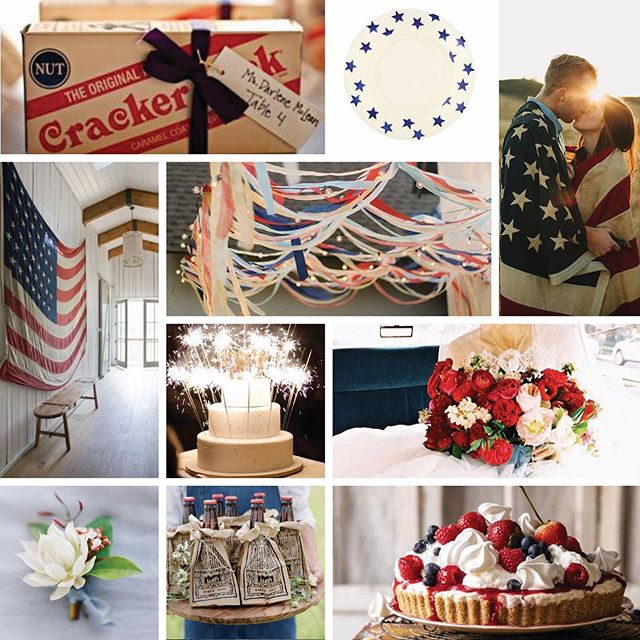 Happy 4th! 🎉 Here's a mini inspiration board with images pulled from my Pinterest board, All American Wedding.