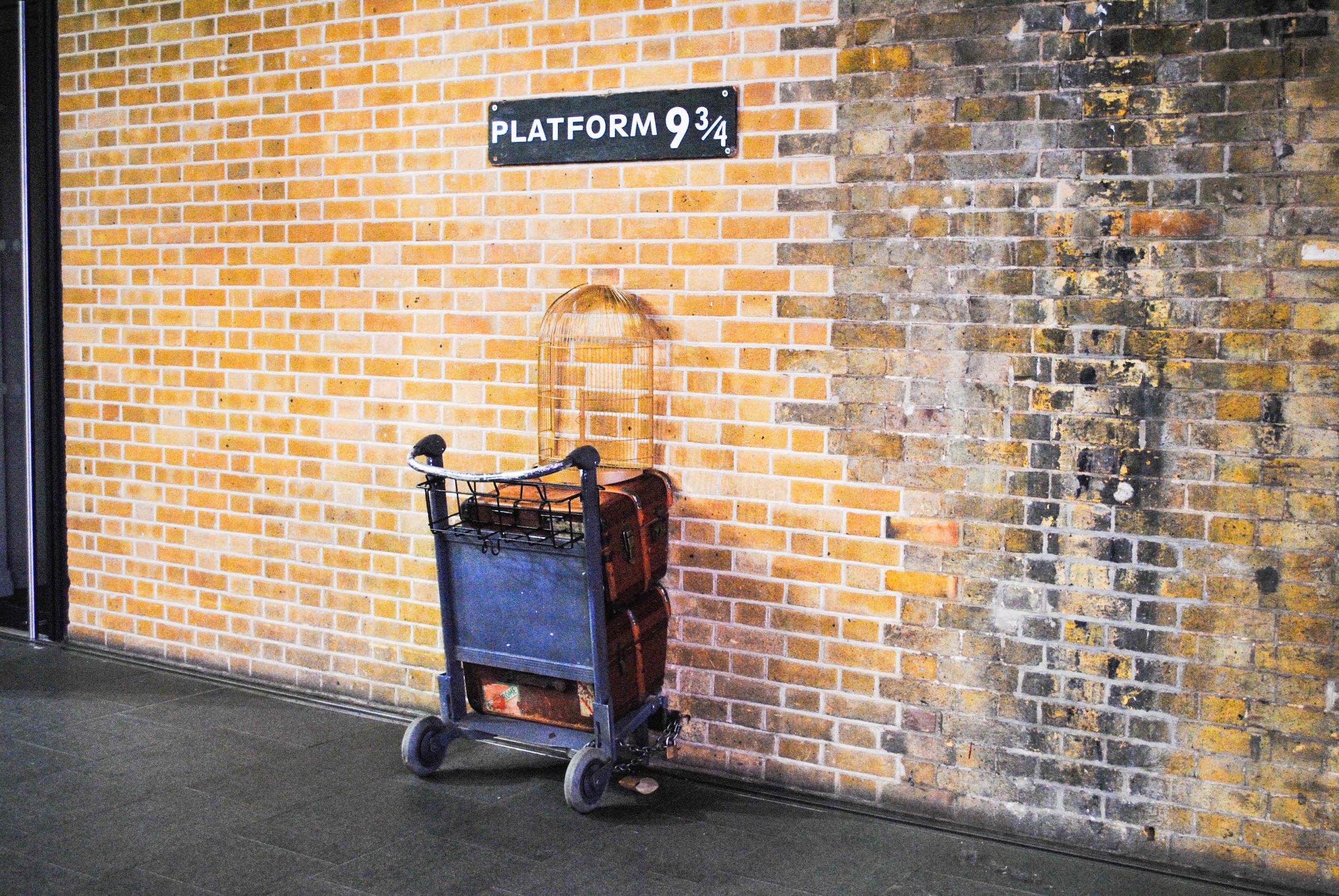 Platform 9 3/4 in London, UK