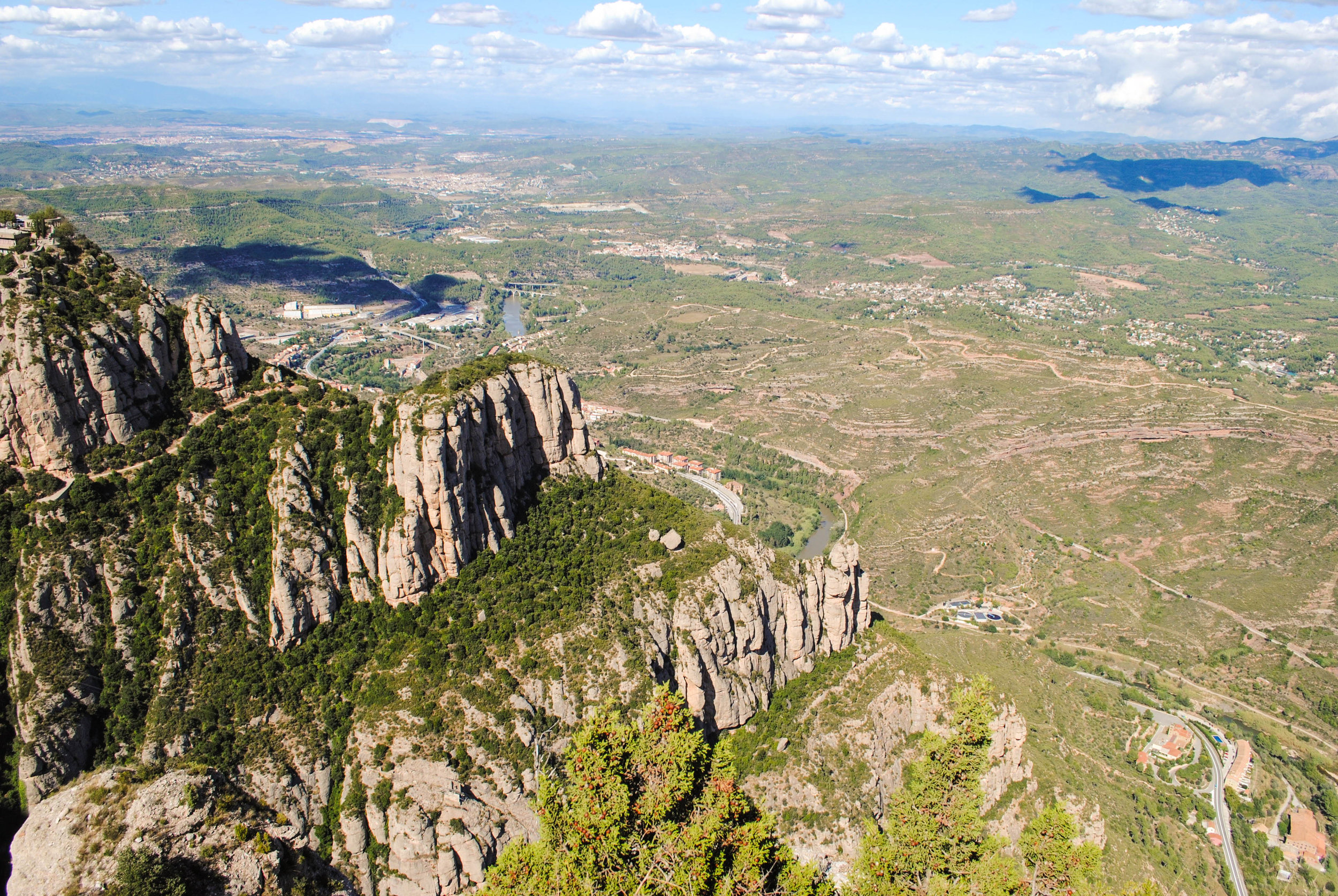 Hiking in Montserrat in Catalonia, Spain