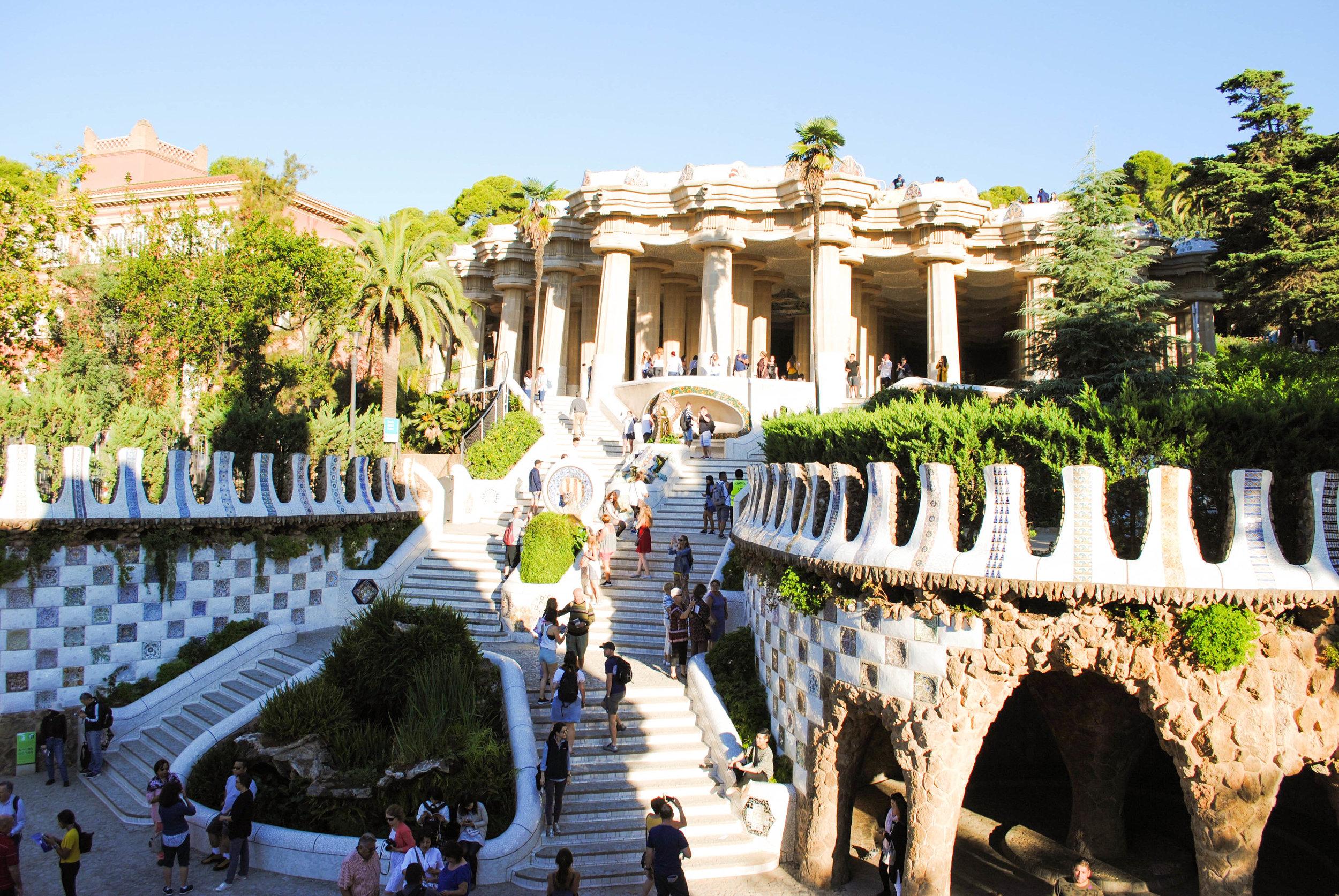 Park Güell in Barcelona, Spain