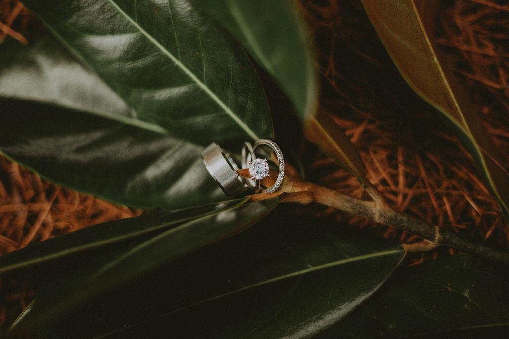ring shot at wedding