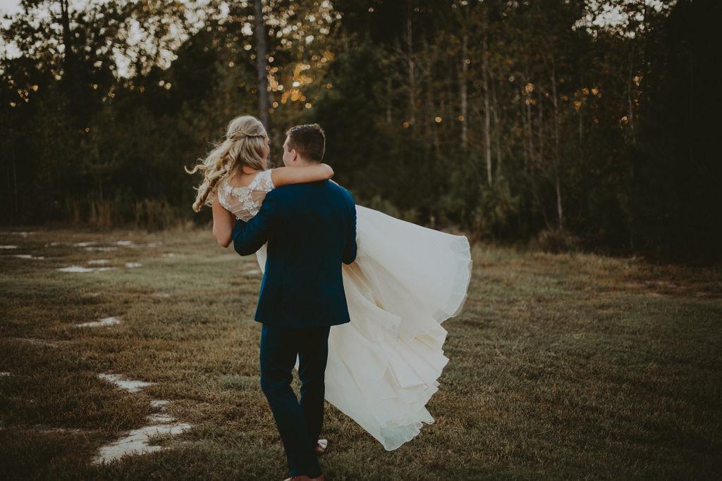southern wedding bride & groom 3