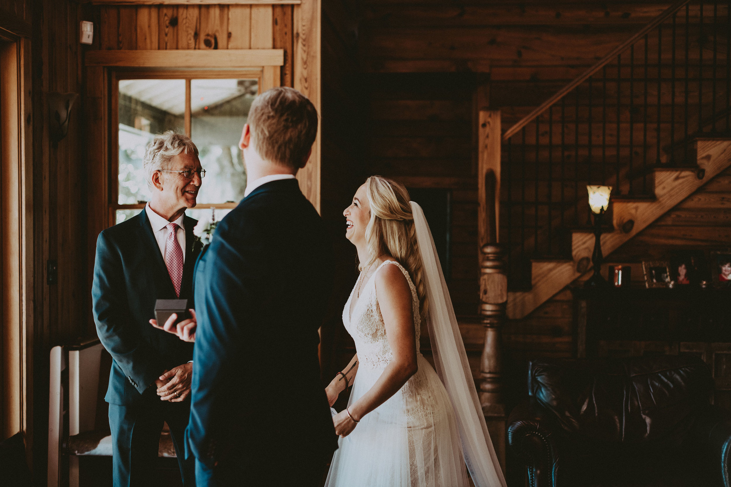 first look with bride + Father
