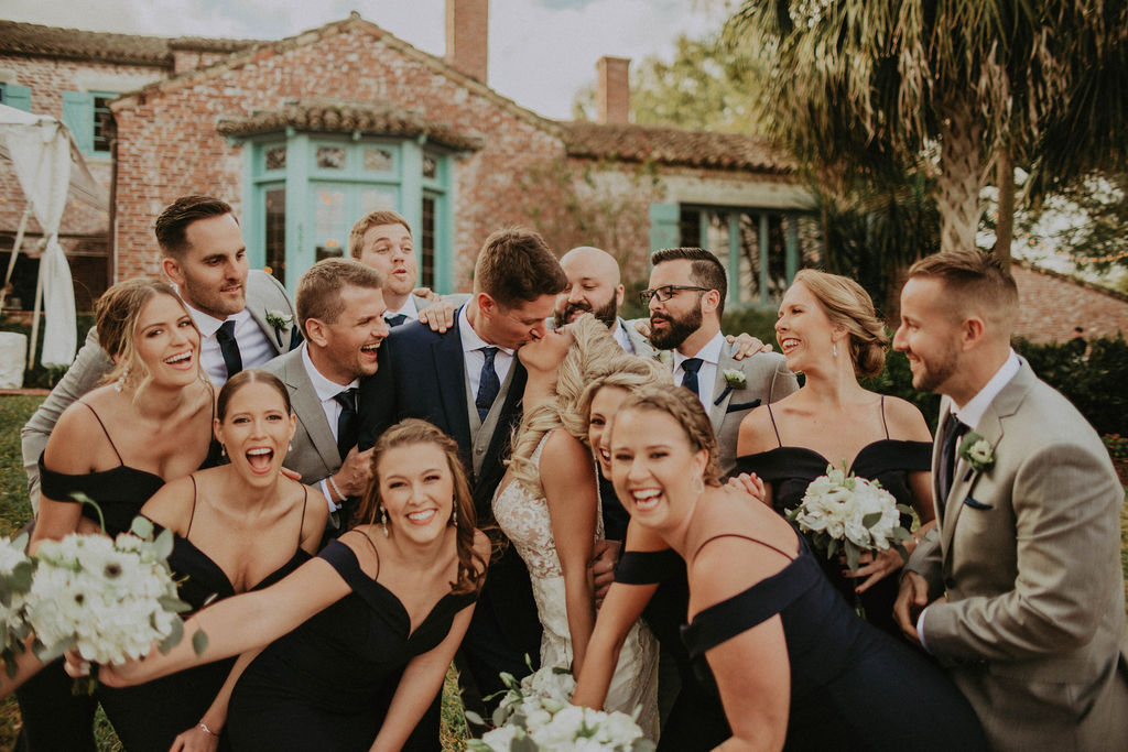 Malibu wedding party photos