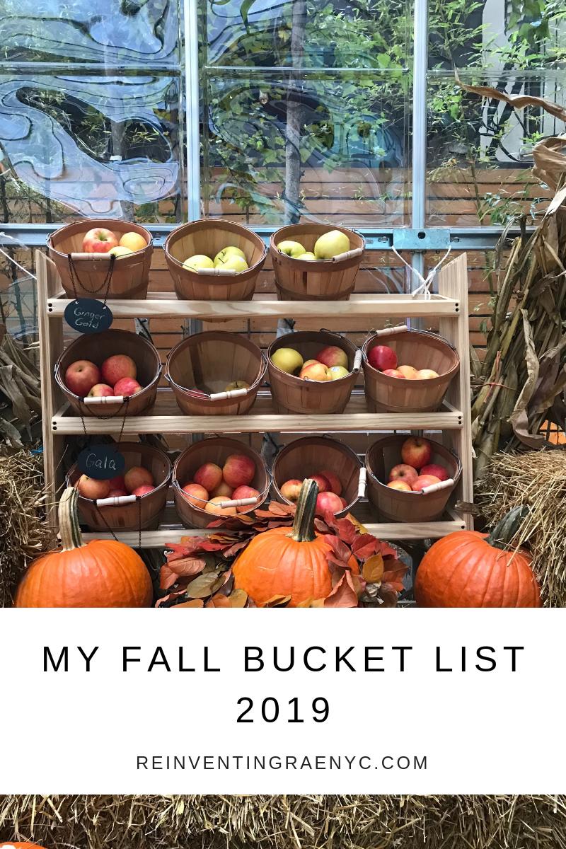 Fall Bucket List 2019