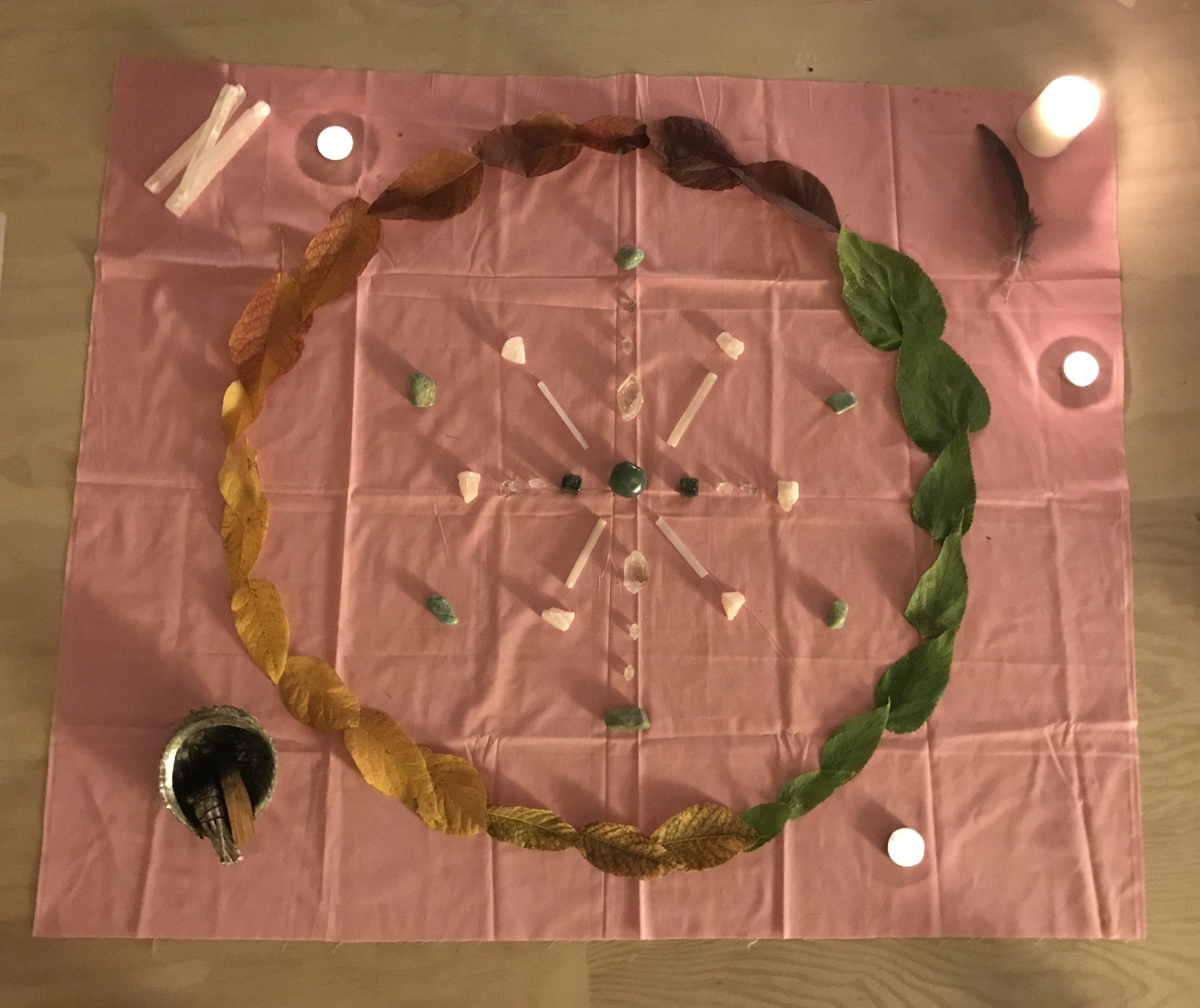 '17 October Libra New Moon Circle Crystal Grid
