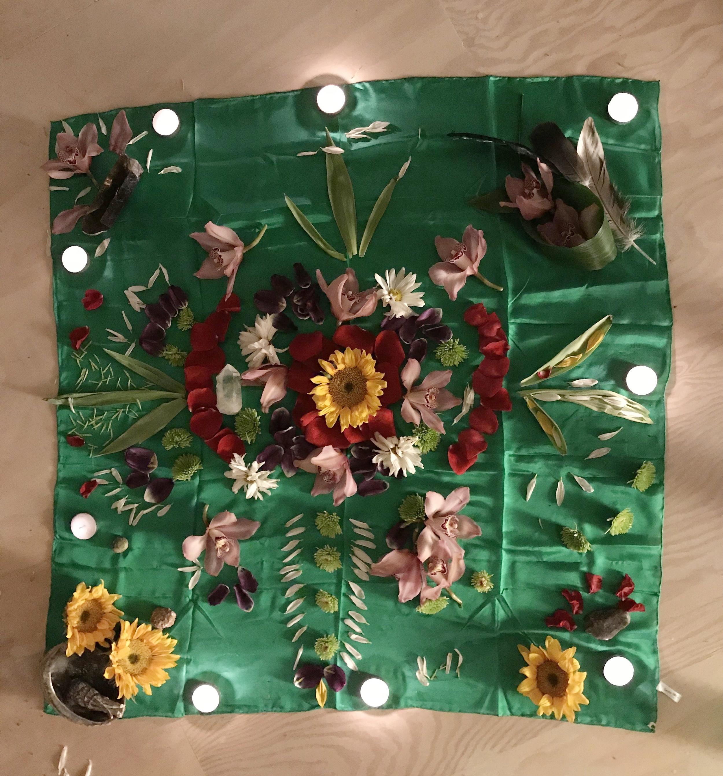 '18 January Capricorn New Moon Circle Flower Mandala