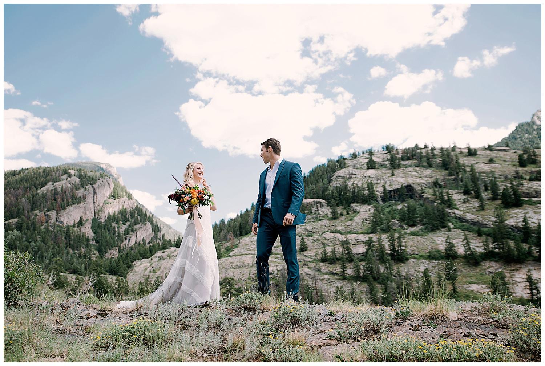 bride and groom first look, adventurous first look, maroon bells wilderness wedding, adventure wedding, adventurous colorado wedding photographer, marble colorado wedding