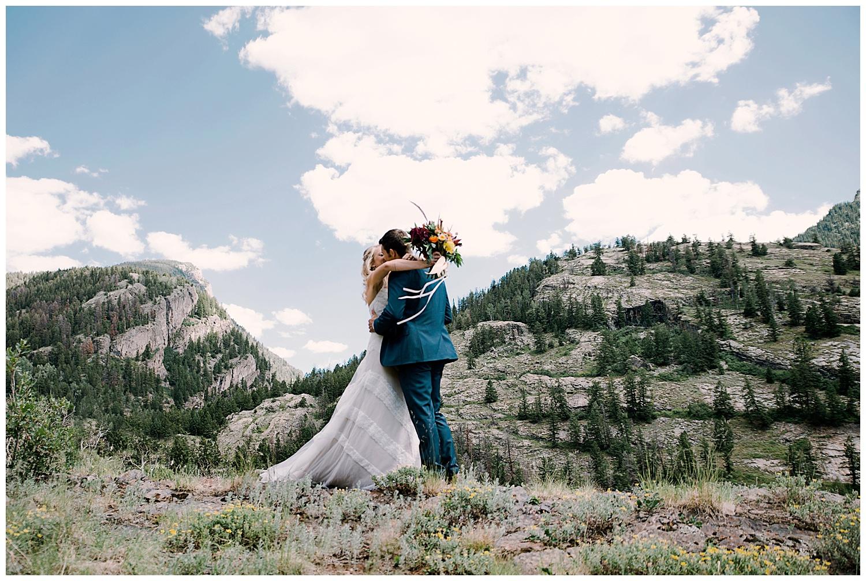 bride and groom first look, adventurous first look, marble colorado wedding, maroon bells wilderness wedding, adventurous colorado wedding photographer, marble lodge wedding