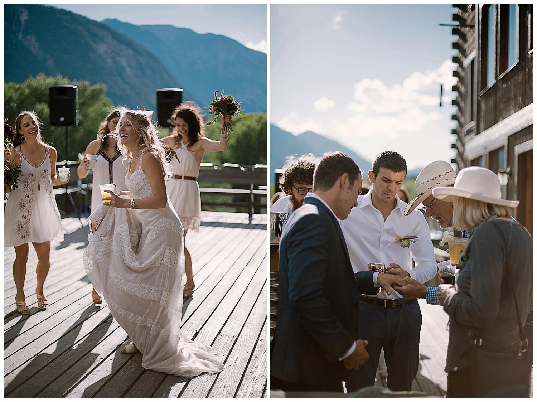 cocktail hour, outdoor colorado wedding, adventurous colorado wedding photographer, marble colorado wedding, marble lodge wedding