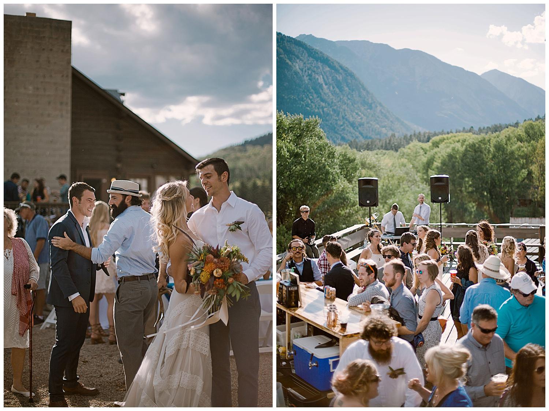 cocktail hour, marble lodge wedding, marble colorado wedding, outdoor colorado wedding, adventurous colorado wedding photographer