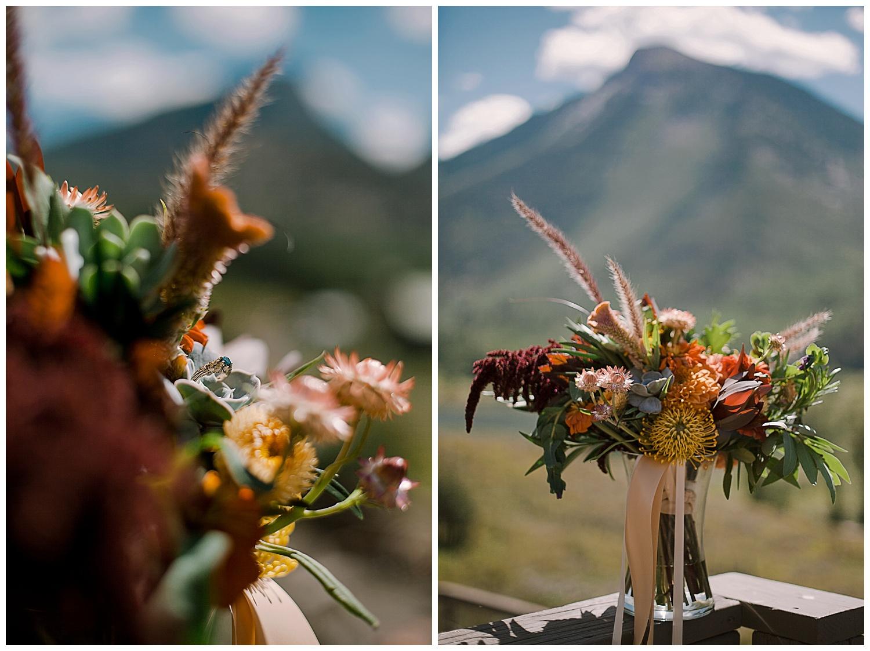 wedding florals, outdoor colorado wedding, marble colorado wedding, marble lodge wedding, adventurous colorado wedding photographer