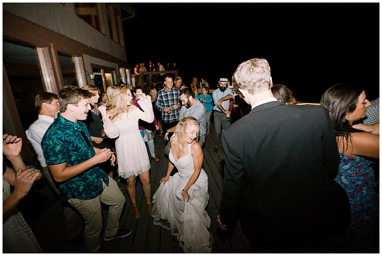 bride dancing, wedding reception, outdoor colorado wedding, marble colorado wedding, marble lodge wedding, adventurous colorado wedding photographer