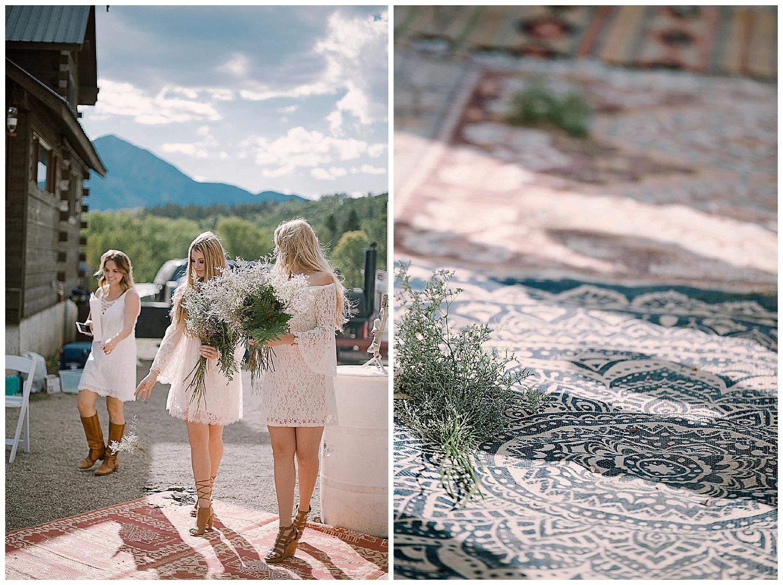 flower girls, marble colorado wedding, marble lodge wedding, adventurous colorado wedding photographer, adventure wedding, outdoor colorado wedding ceremony