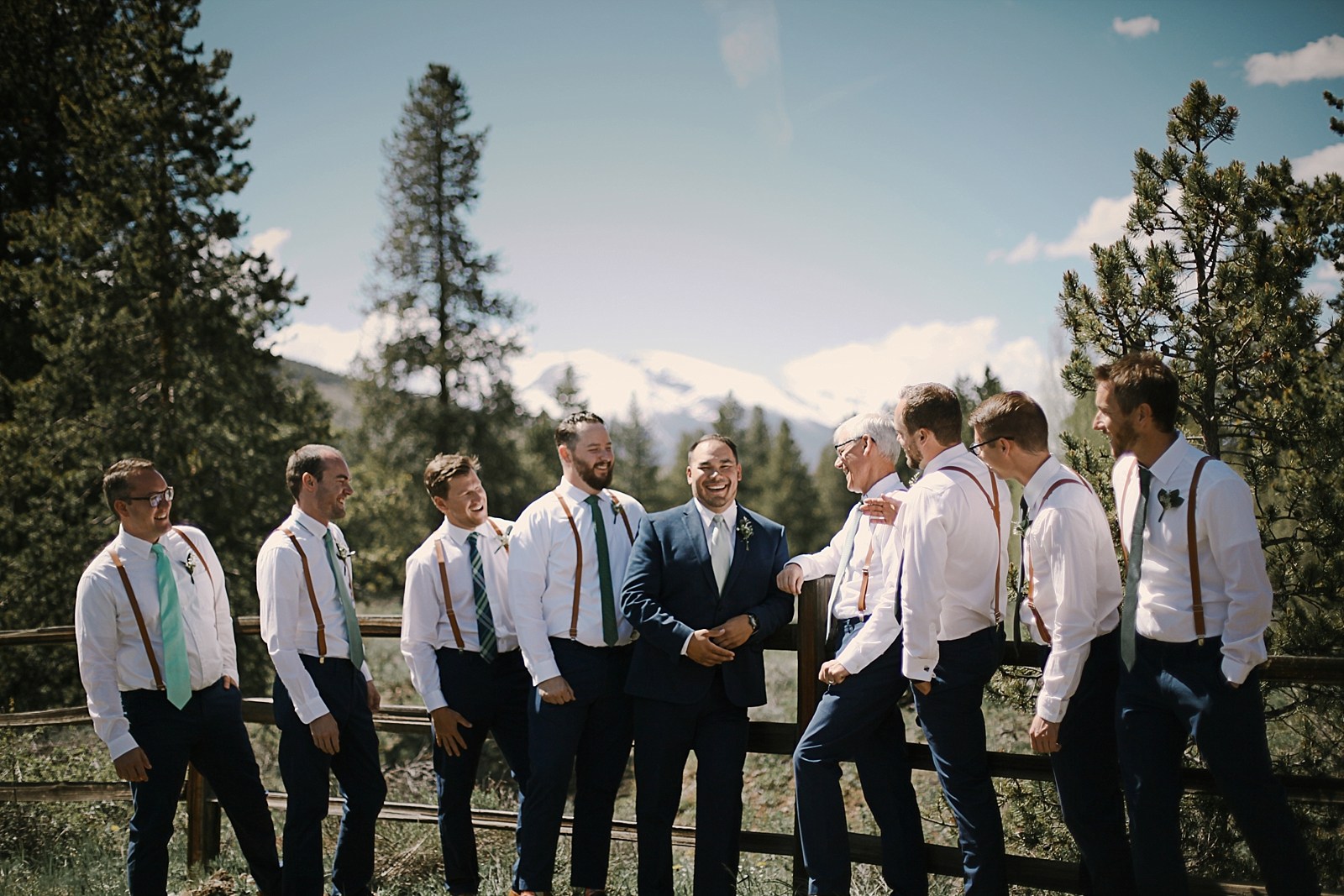 groomsmen at agape outpost, bridal party, breckenridge colorado wedding, breckenridge colorado wedding photographer, the church at agape outpost wedding, agape outpost wedding photographer