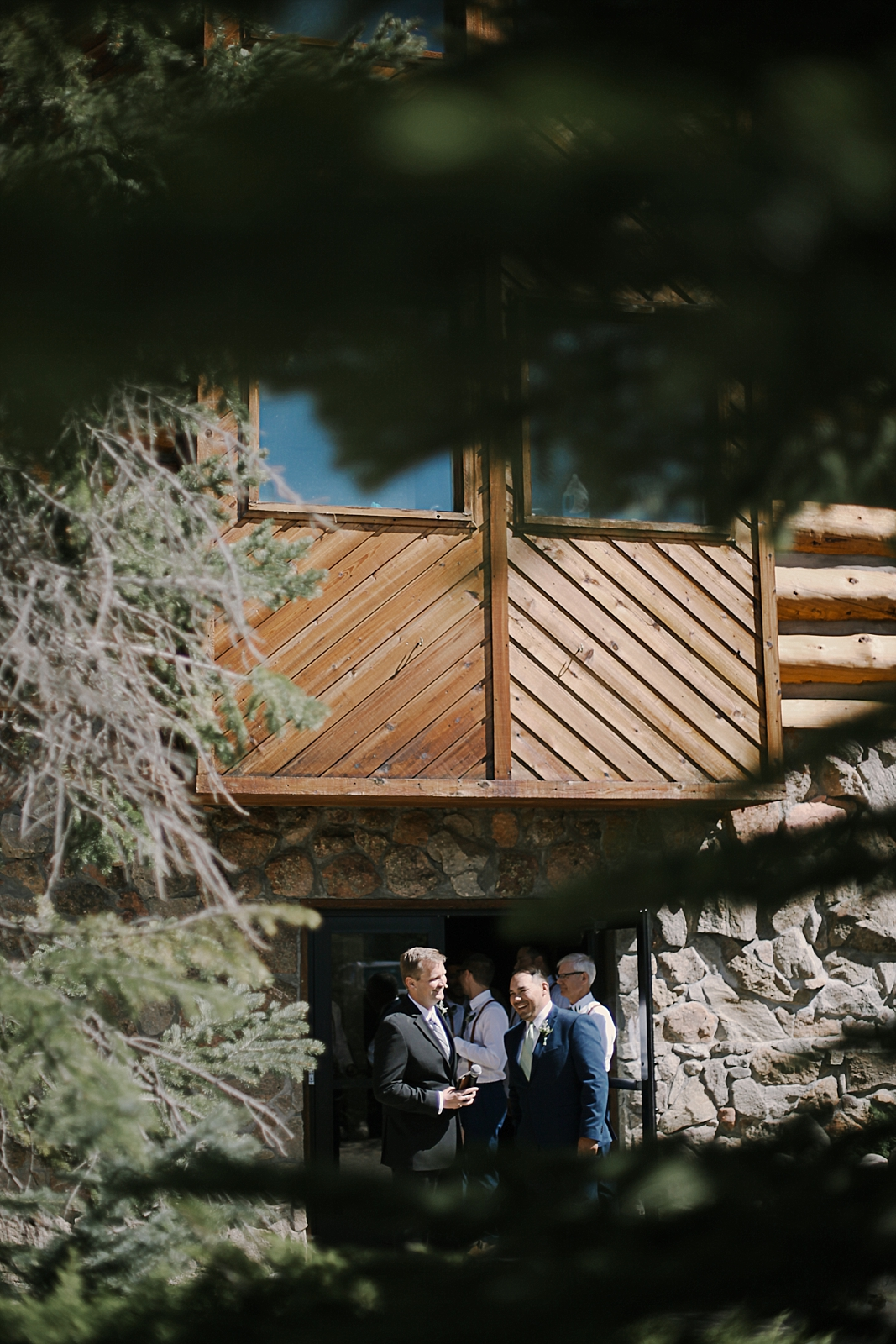 the groom walking down the aisle, breckenridge colorado wedding, breckenridge colorado wedding photographer, the church at agape outpost wedding, agape outpost wedding photographer