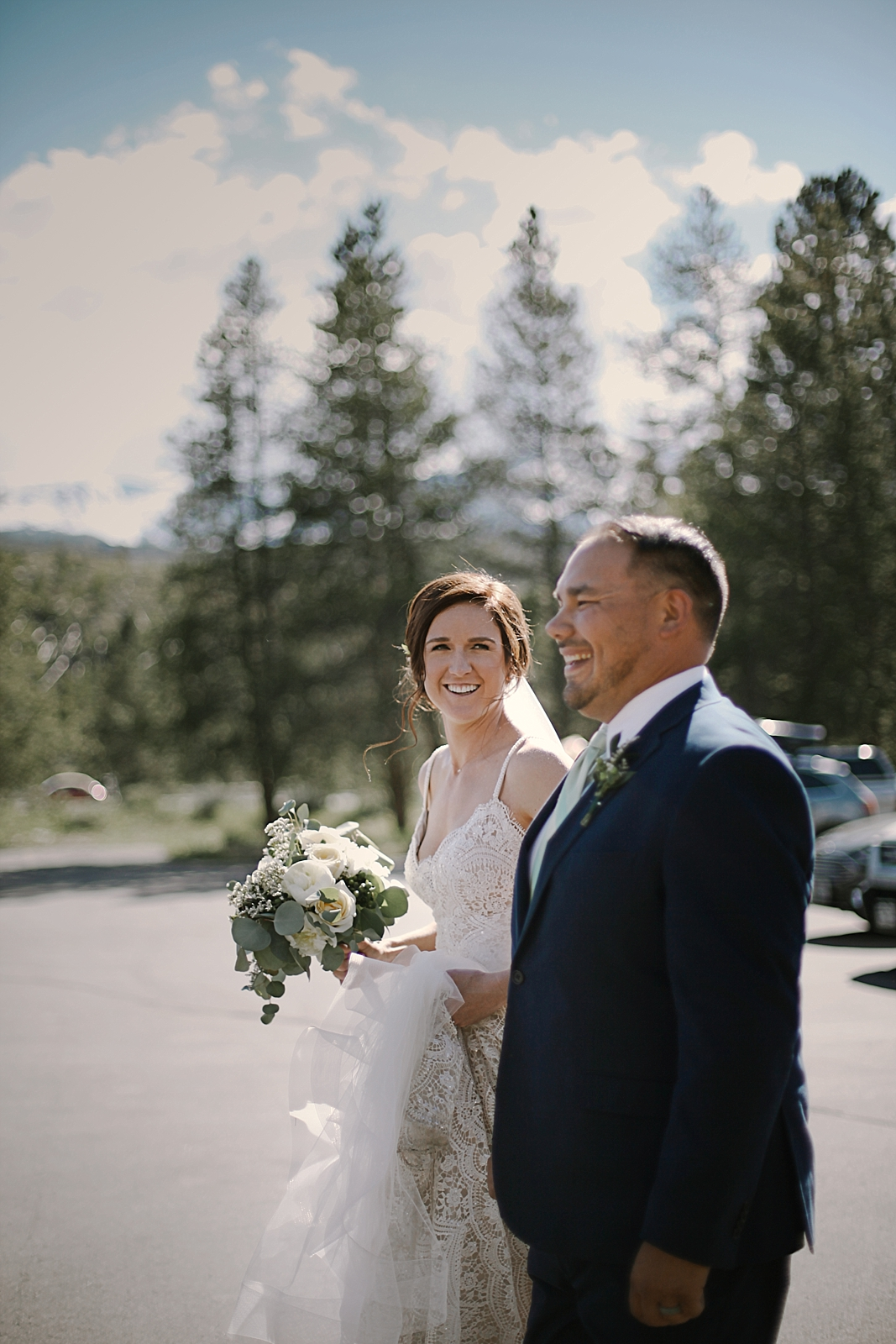 bride and groom at agape outpost, breckenridge colorado wedding, breckenridge colorado wedding photographer, the church at agape outpost wedding, agape outpost wedding photographer